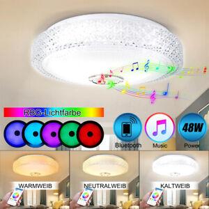 48W-Dimmbar-LED-Bluetooth-Lautsprecher-Deckenleuchte-Deckenlampe-APP-Steuerung
