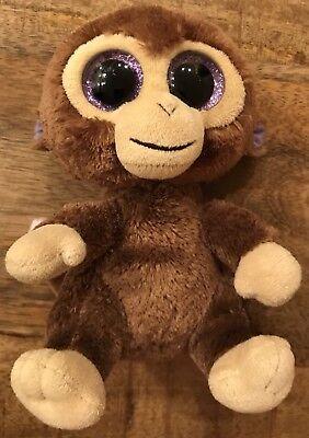 "Ty Beanie Boo Coconut Monkey Plush 6/"" Stuffed Animal Purple Solid Eyes Toy Small"