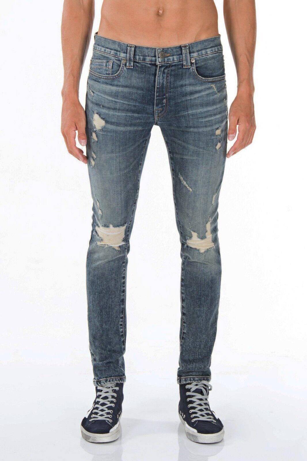 Authentic FIDELITY DENIM Men's Distressed Slim Skinny Diesel Jeans Denim