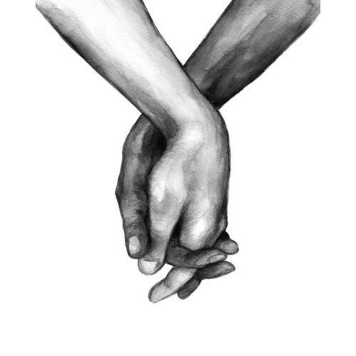 Scandinavian Poster Black And White Holding Hands Canvas Lover Quote Home Decor