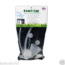 Exact-Cap 3 Cap Hydro Nutrient Measuring Cup Kit, Never Spill Again BAY HYDRO $$