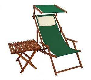 Lit Soleil Transat pour Jardin Vert Chaise Longue Table de Plage 10 ...