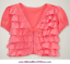 Baby Gap NWT Pink Reef RUFFLE SHORT SLEEVE KNIT BOW CARDIGAN 6 9 12 18 24 Months
