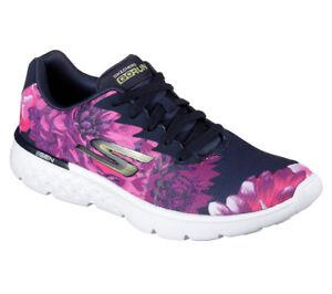 Skechers Go Walk Joy Sneakers Ladies Runners Laces Fastened Padded Ankle Collar