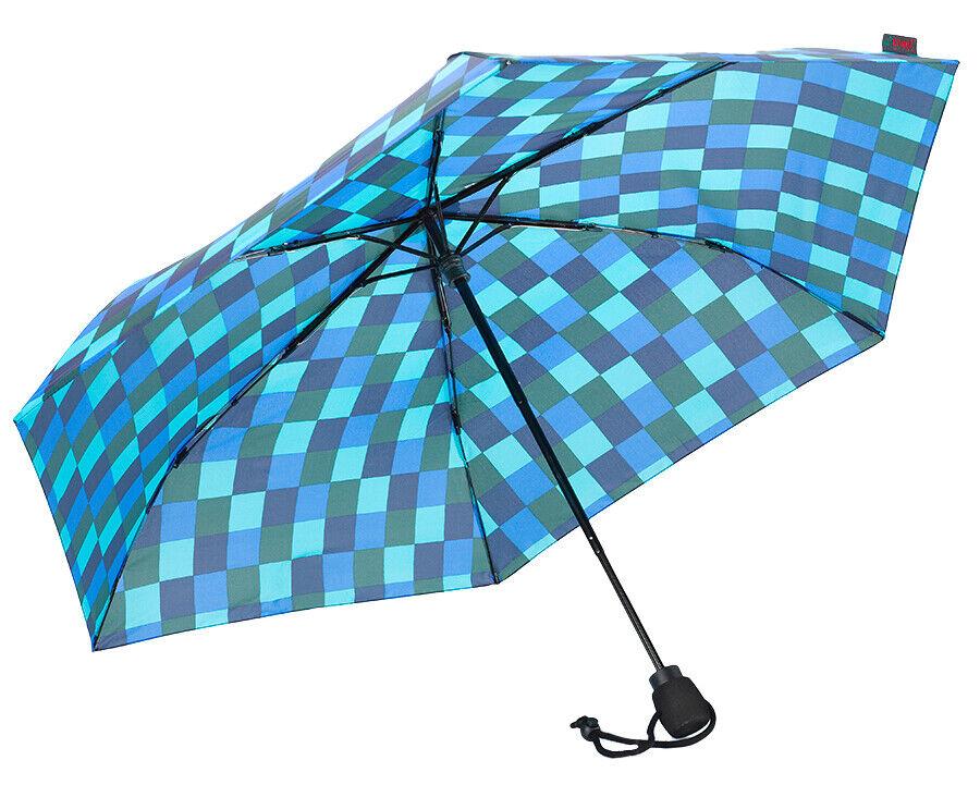 EuroSCHIRM Light Trek Ultra Umbrella (Blue Squares) Trekking Hiking Lightweight