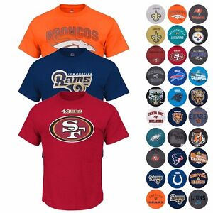 NFL-Assortment-of-Team-Color-Graphic-T-Shirt-Collection-for-Men-by-Majestic