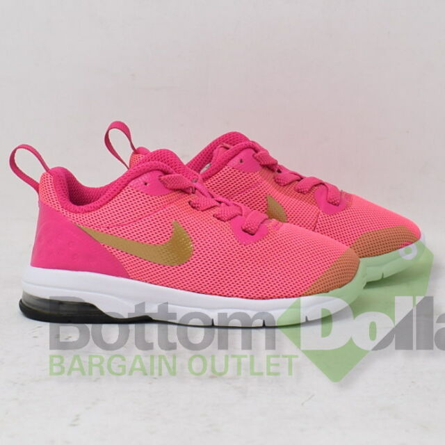90dcefe35025fa Nike Air Max Motion Low (TDV) Girls Laser Pink Infant Toddler Running Shoes