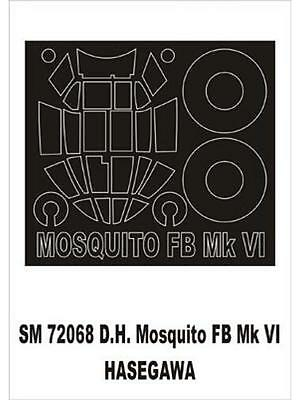 Montex 1/72 canopy masks for Hasegawa DH Mosquito FBVI - SM72068