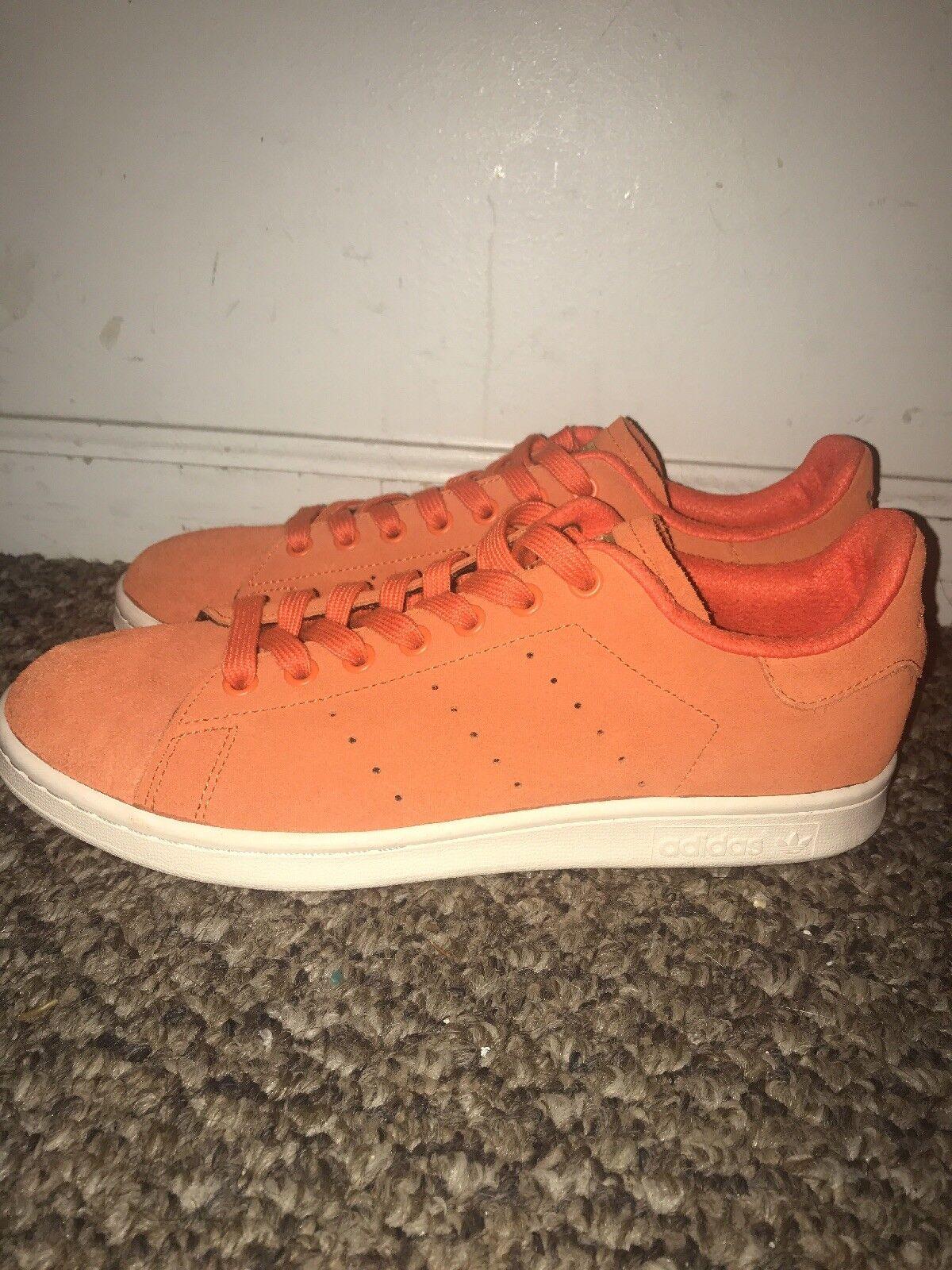 Adidas stan smith numero 9 orange camoscio