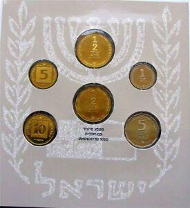 Israel-Official-New-Sheqel-6-Mint-Hanukka-Gelt-Coins-Set-Jewish-Heroism-1993-UNC