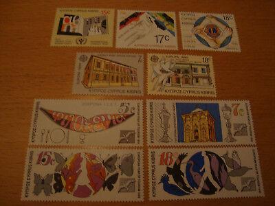 Michelnummern 745-753 1990 Postfrisch Fein Verarbeitet Zypern