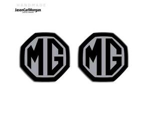 MGF-MG-ZS-ZR-LE500-MK1-Emblem-Badge-Inserts-Front-Rear-59mm-Black-Silver