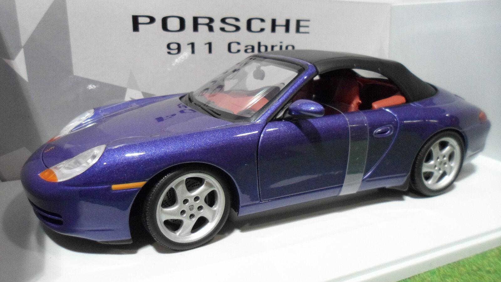 PORSCHE 911 CABRIOLET SOFT TOP 996 VIOLET 1/18 UT Models 27909 voiture miniature