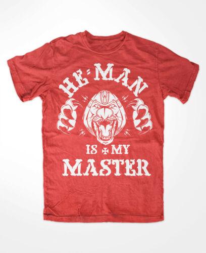 is my Master T-shirt rouge MOTU He-man Culte Snake Mountain He-man UNIVERSE