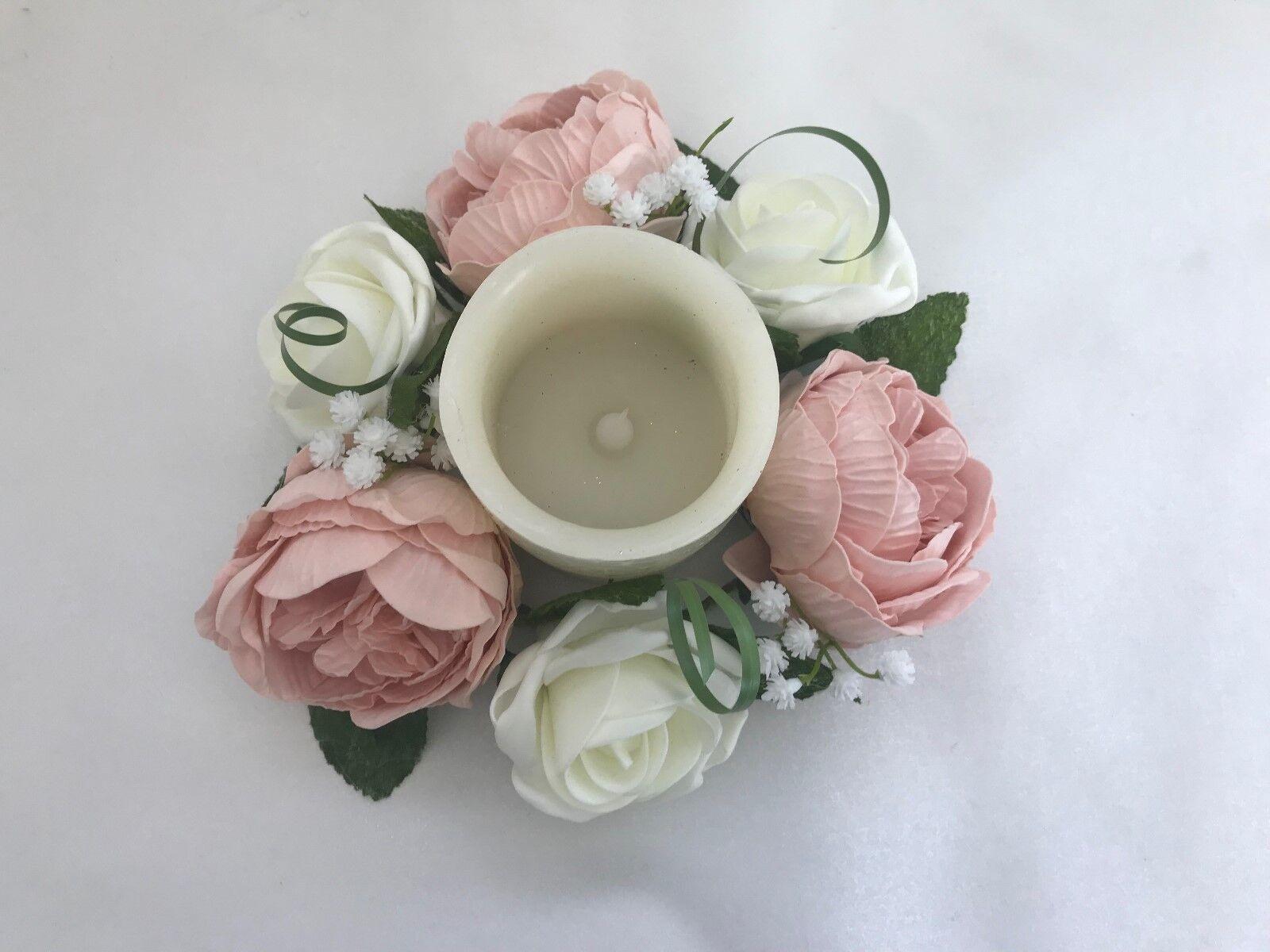 Bouquet Sposa Fiori Avorio rosa asole Peonia Posy SPOSE BACCHETTE asole rosa rosa fbb152
