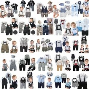 Baby-Boy-Wedding-Christening-Formal-Tuxedo-Suit-Party-Outfit-Clothes-Newborn-24M