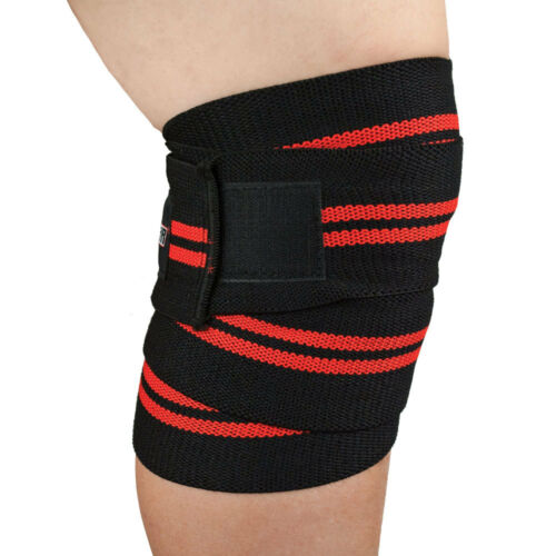 Power Weight Lifting Knee Wraps Gym Training Straps Guards Support Bandages
