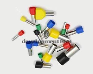 1000pcs E0510 Insulated 22 AWG Red Insulated Ferrule Pin Crimp Terminals