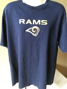 c9ff233c7 NFL TEAM APPAREL ~ Men s XL Blue ~ ST. Louis RAMS ~ EMBROIDERED RAMS ...