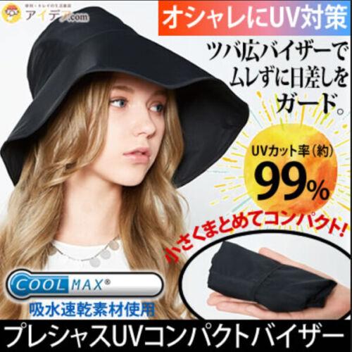 COGIT Japon Coolmax Uv Compact Visière Chapeaux Casquette petit visage effet pliable K336