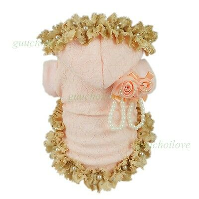 Fitwarm Gorgeous Pink Winter Coat Dog Clothes Pet Dress Warm Fleece Apparel Girl