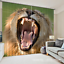 3D Lion opens 6 Blockout Photo Curtain Printing Curtains Drapes Fabric Window AU