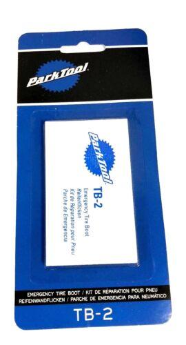 Park Tool TB-2 urgence Route//Vélo De Montagne Vélo Pneu Réparation BOOT KIT 3 Patch Pack