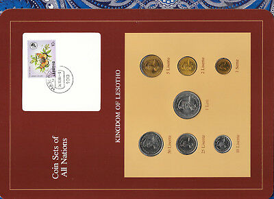 Coin Sets Of All Nations Lesotho 1 Loti,25,5,2,1 Lisente 1979 50,10 1983 Unc Coins: World Coins & Paper Money