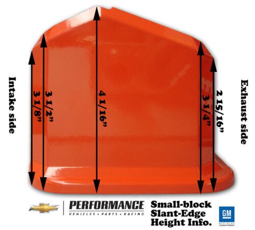 Small Block Chevy Red Cast Aluminum Proform 141-931 Slant Edge Valve Covers