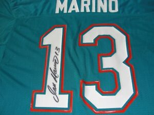 detailed look 73f93 c37de Details about DAN MARINO - FULL SIGNATURE - Miami DOLPHINS GAME JERSEY !!!  AMAZING - COA !!
