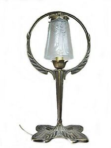 details sur lampe papillon art deco avec tulipe en verre presse