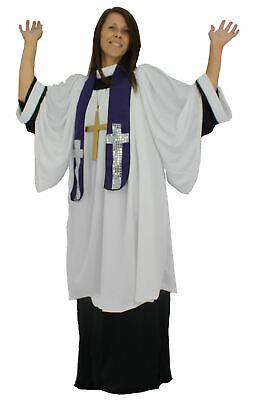 Les Adultes Unisexe Gospel Church Religious Chorale Chanteuse Fancy Dress Costume