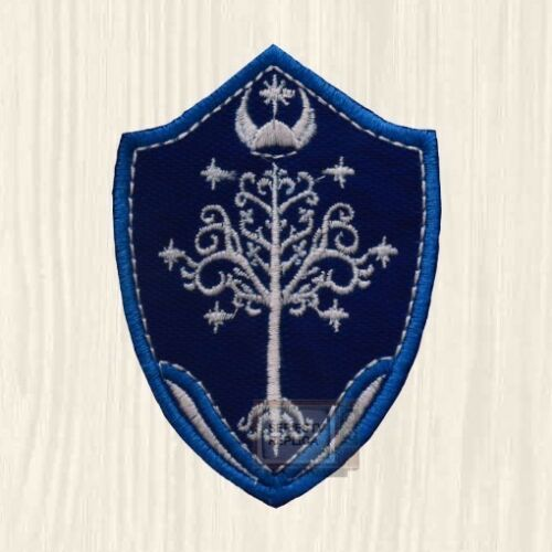 LOTR Gondor Tree Shield Patch Tolkien The Hobbit Lord of the Rings Embroidered