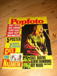 POPFOTO-8-1974-KOMPLETT-CATS-NAZARETH-ABBA-HAMMOND-OTTO-BOLAN-SWEET-POSTER
