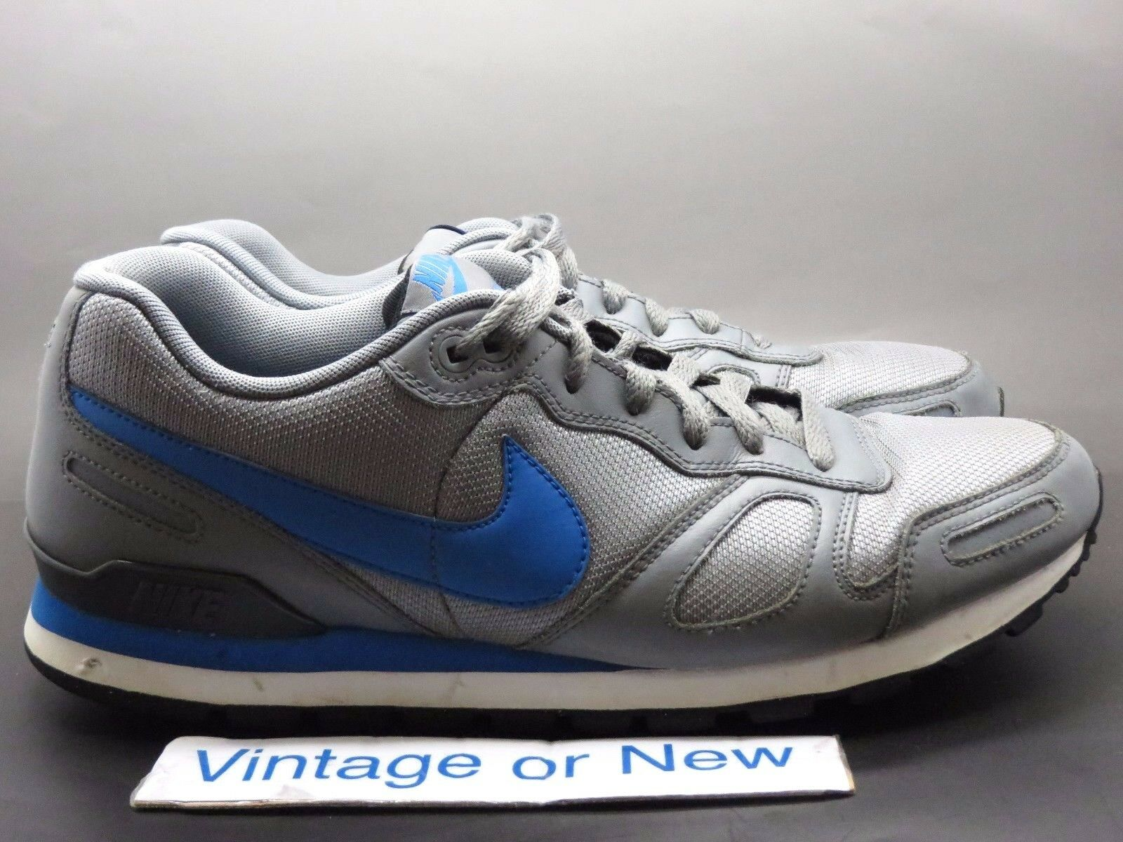 New shoes for men and women, limited time discount Men's Nike Air Waffle Trainer Cool Grey Soar Blue White Black 429628-099 Price reduction