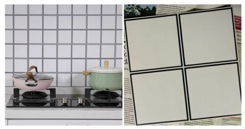 Self-adhesive kitchen bathroom water oil-proof high quality PP tile sticker