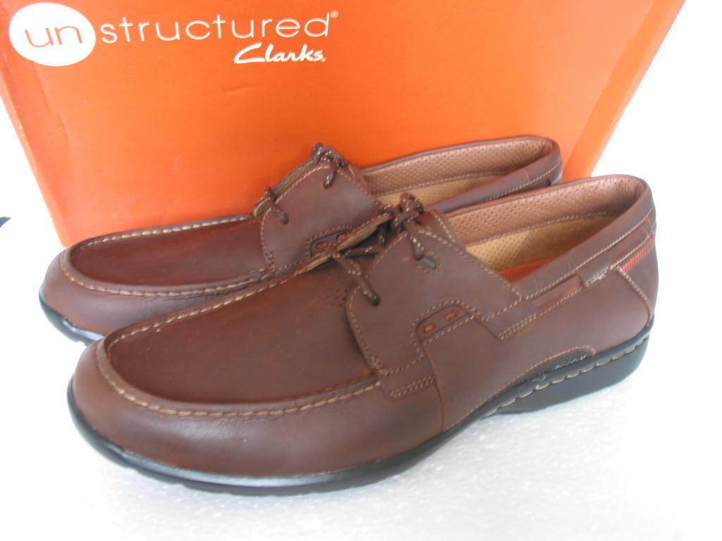 CLARKS  Herren UNCAPE TAN LEATHER SLIP ON Schuhe UK SIZE 7, 8  G