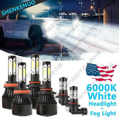 For Ford F-150 2015-19 LED Pkg Headlight High Low Beam Fog Light Bulbs Combo 6x
