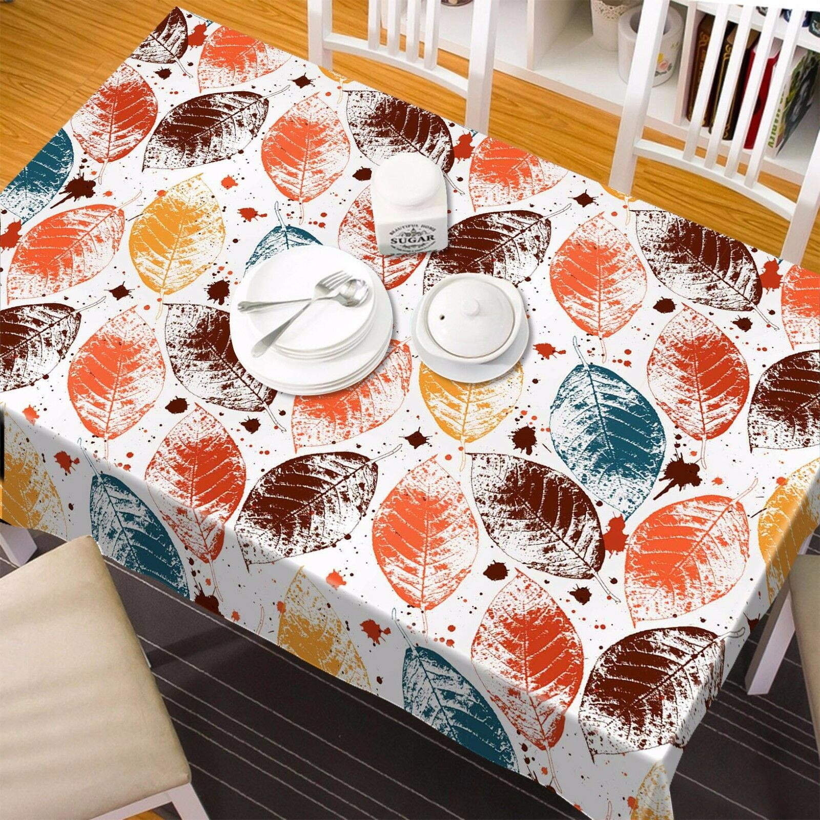 3D Leaves 882 Tablecloth Table Cover Cloth Birthday Party Event AJ WALLPAPER AU