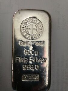 Image Is Loading Argor Heraeus Sa Silver Bar 500 Grams 999
