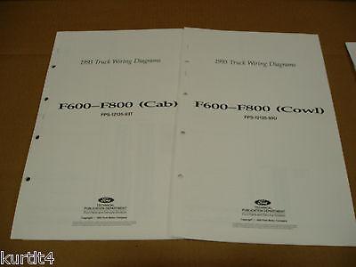 1993 Ford F600 F700 F800 Cab/Cowl truck wiring diagram ...