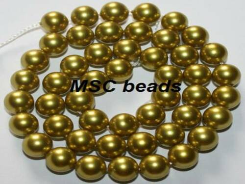 "16/"" South sea shell perle verte de 4mm 6mm 8mm 10mm"