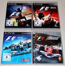 4 PLAYSTATION 3 SPIELE SAMMLUNG - F1 FORMULA 2010 2011 2012 CHAMPIONSHIP EDITION