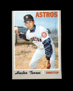 Hector Torres Hand Signed 1970 Topps Houston Astros Autograph