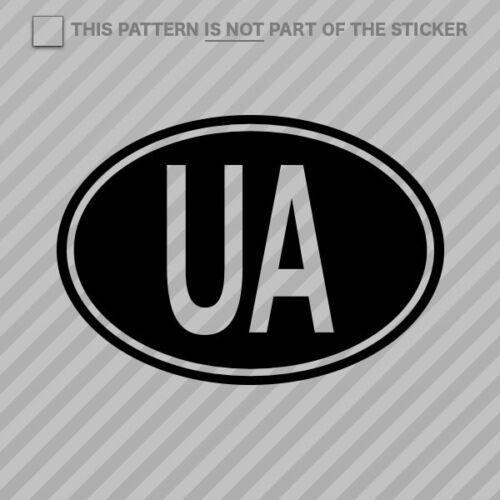 2x Ukraine Oval Sticker Self Adhesive Vinyl country code UA