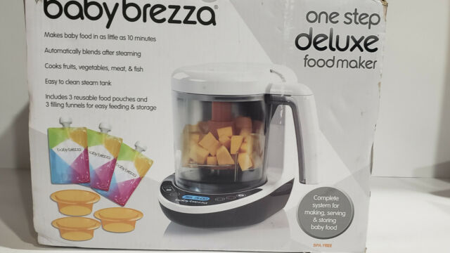 Baby Brezza Baby Food Maker Deluxe One Step Steamer Blender Machine New