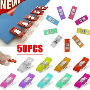 10-50-Wonder-Clips-Colorful-for-Fabric-Quilting-Craft-Sewing-Knitting-Crochet