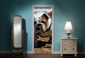 Door-Mural-Bull-Dog-View-Wall-Stickers-Decal-Wallpaper-276
