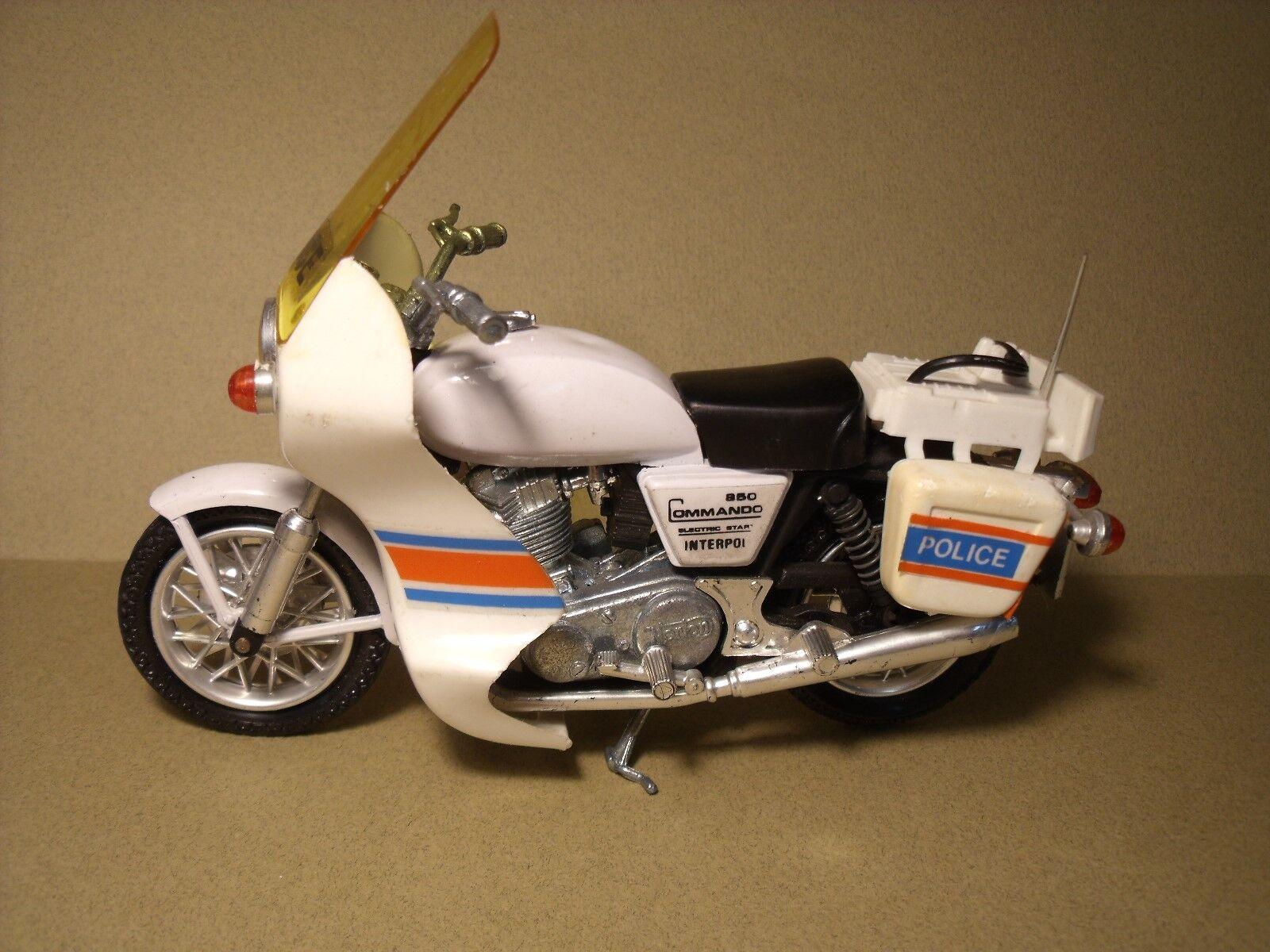 POLISTIL  1 15  MOTO MOTO MOTO  NORTON  COMMANDO  850  POLICE   TRES  BEL  ETAT  VINTAGE 619fb4