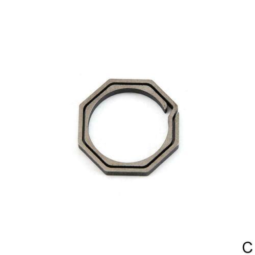 EDC TC4 Titanium Alloy Keychain ring Belt Pocket Clip Key Holder Ring Bar F0X5